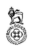 Seconds mark doulton royal Royal Doulton